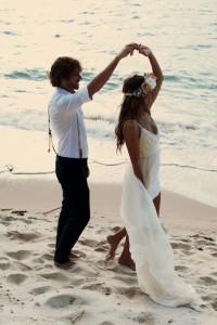mariage robe plage