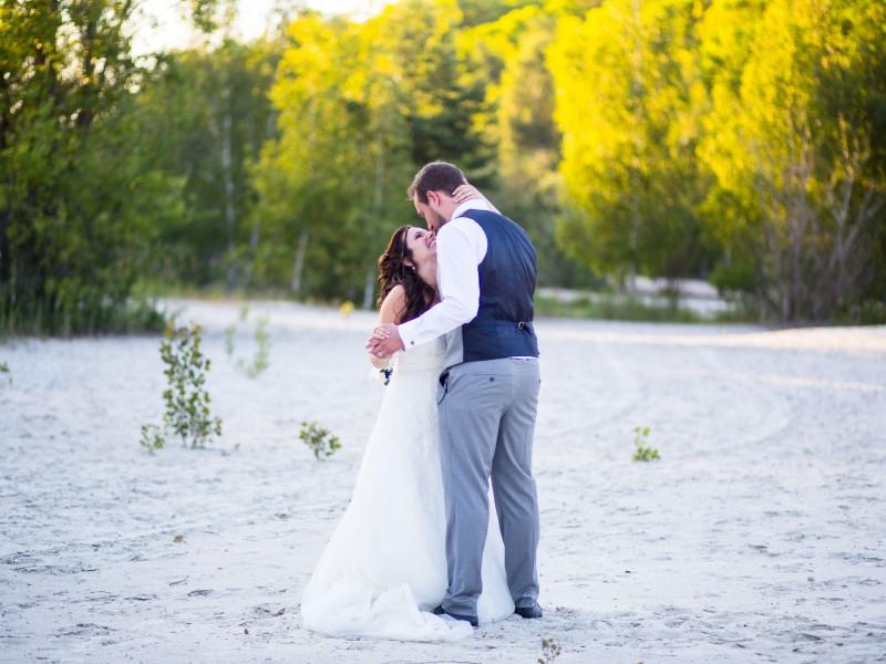 Mariés bonheur plage couple mariage